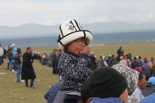 Faces at the pre-Nomad games at Song Kul Lake.